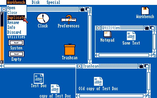 Amiga Workbench 1 x