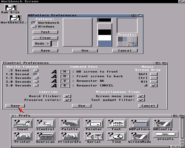 Amiga Workbench 2 x