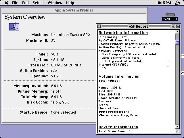 MacOS 8 1