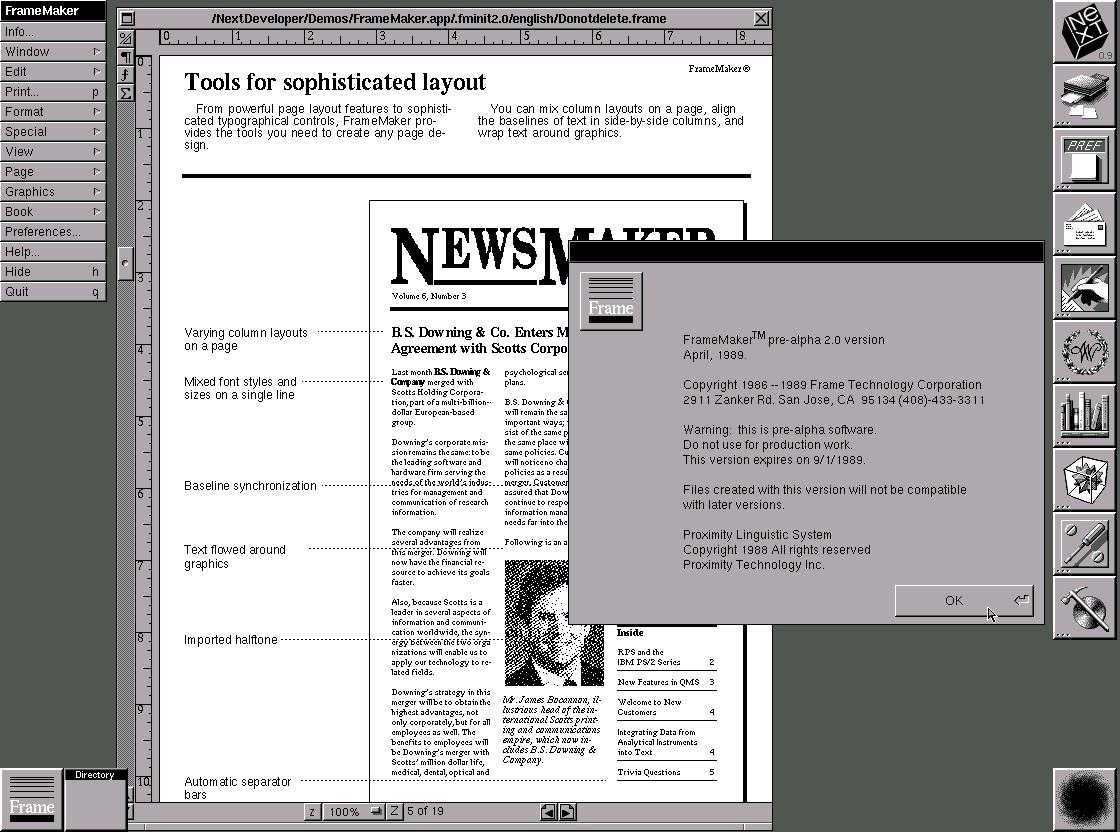NeXTSTEP 0.9