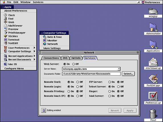 MacOS X Server 1 0