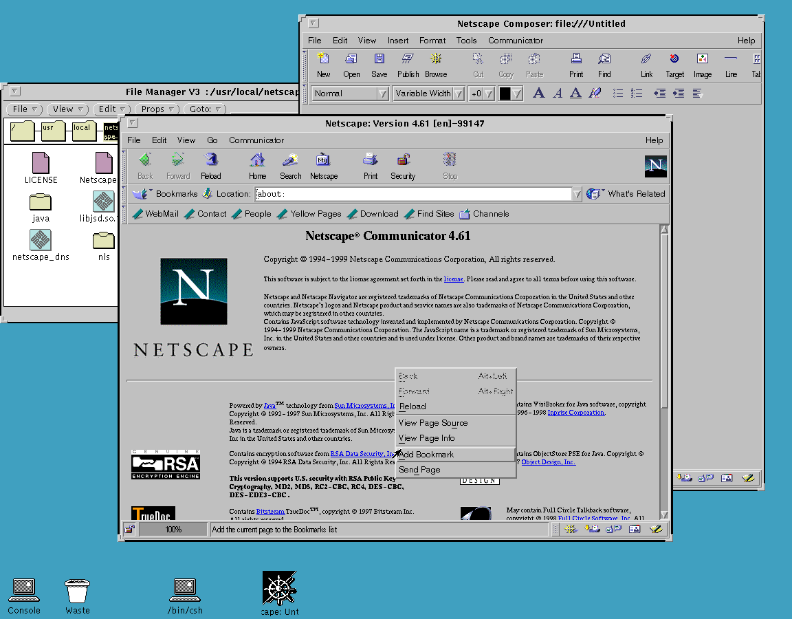 OpenWindows 3 - SunOS 4.1.4