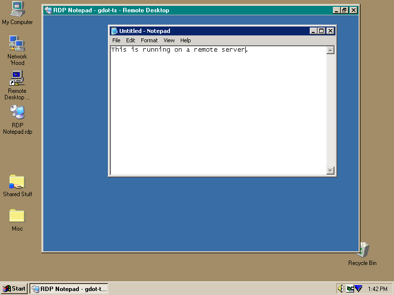 MS Terminal Services