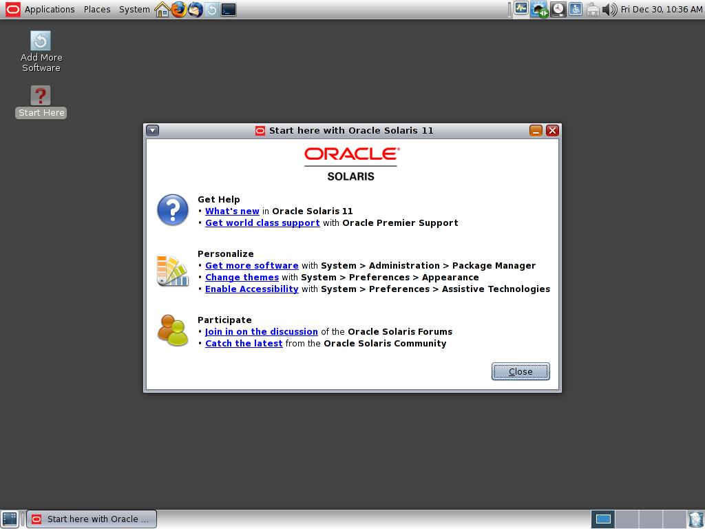 Solaris 11 GNOME 2 30
