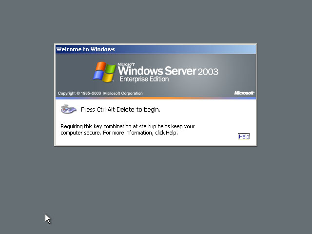 windows 2003 server