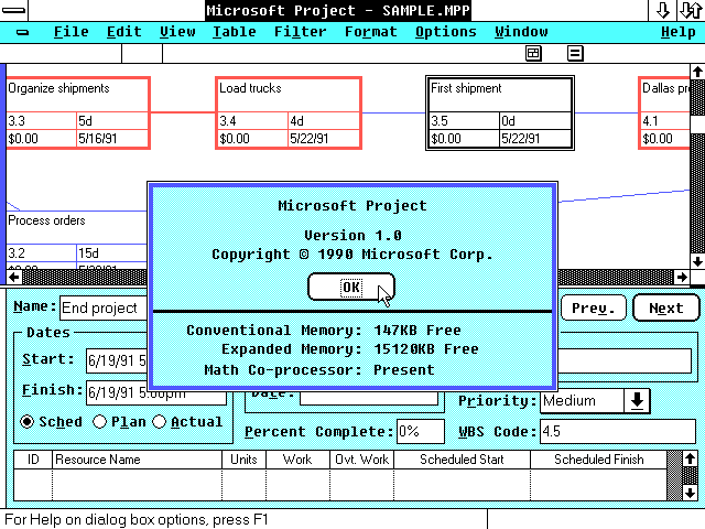 First version of microsoft windows images for 1st window