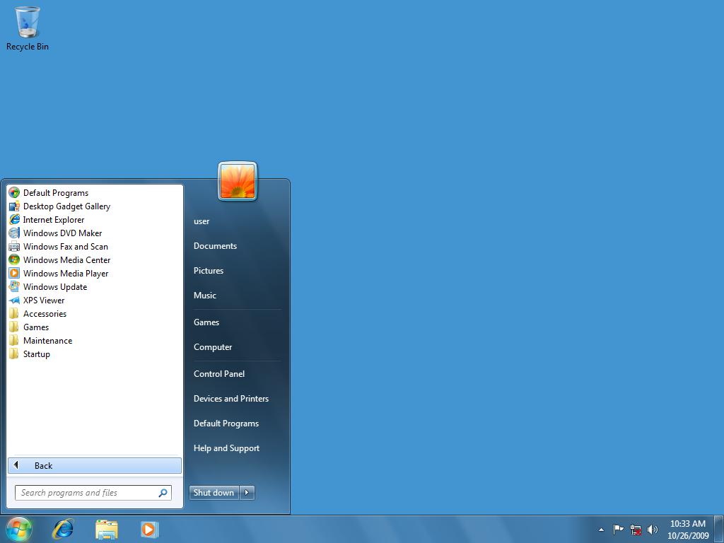 Programs In Windows 7 Start Menu