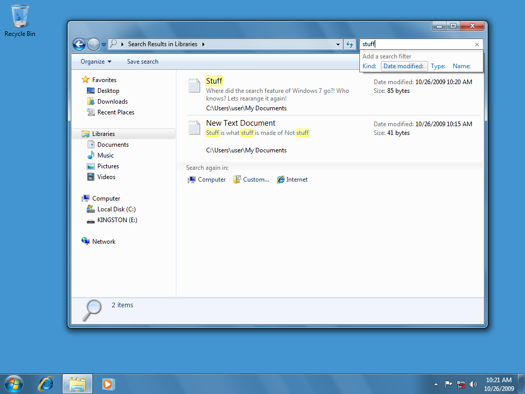 how to find my documents in windows 7