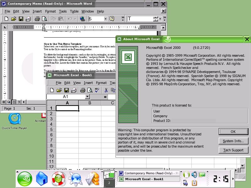 Ms office 2000